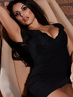 Charley S British Glamour Model - Charlotte Springer Teasing In Her Tight Black Dress
