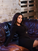 Charley S British Glamour Model - Charlotte Springer Teasing In Black Dress
