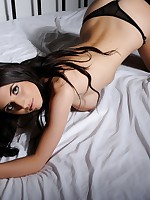 Isabella B teasing on the bed