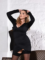 Jodie Gasson British Model Nude - JODIE IN SEXY BLACK DRESS