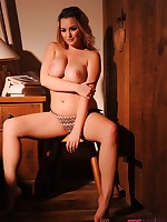 Jodie Gasson British Model Nude - JODIE STRIPS IN BEDROOM