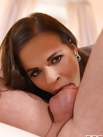 Deep Throat Delivery - Brunette Blows Stud's Boner in 69 free photos and videos on OnlyBlowJob.com