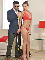 The Tailor's Lucky Day - Hot Glamour Babe Seduces Horny Stud free photos and videos on HandsonHardcore.com