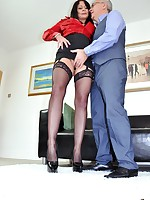 Jim Slip UK Porn video: From biker chick to sexy secretary